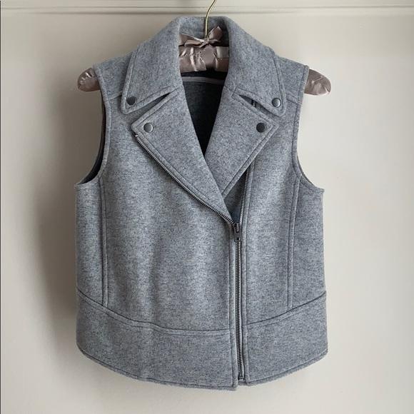 Club Monaco Jackets & Blazers - Club Monaco Moto Vest Gray Wool Sz XS